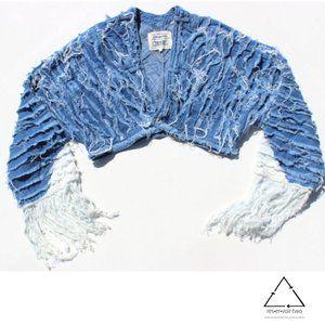 Levis Bolan Tucker Jacket Heritage Fringe Crop